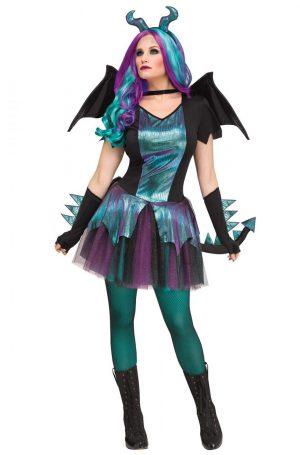 Fantasia de dragão escuro para Mulheres –  Dark Dragon Adult Costume