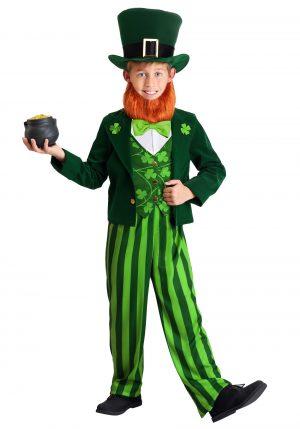 Fantasia de duende verde para crianças – Green Leprechaun Costume for Kids