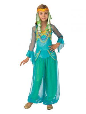 Fantasia de menina dançarina árabe infantil- Kids Arabian Dancer Girl Costume