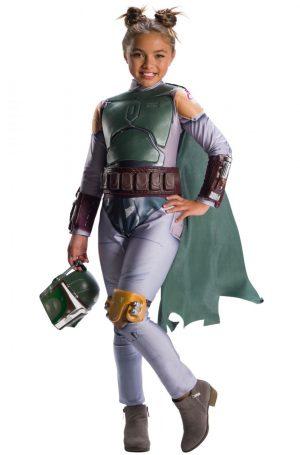 Fantasia de menina infantil Boba Fett – Boba Fett Girl Child Costume