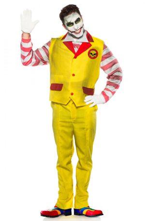 Fantasia de palhaço de fast food malvado – Evil Fast Food Clown Adult Costume