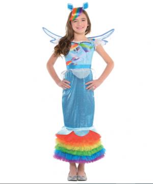Fantasia de sereia Rainbow Dash – Girls Rainbow Dash Mermaid