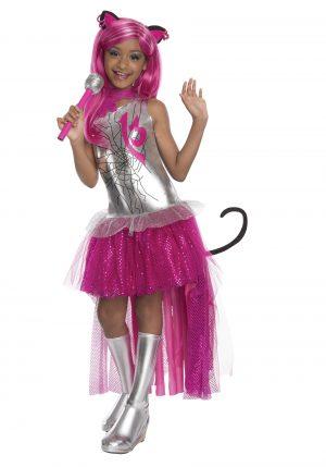 Fantasia infantil monster high Catty Noir – Kids Catty Noir Girls Monster Costume With Wig