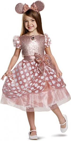 Fantasia Infantil Deluxe Rose Gold Minnie – Deluxe Rose Gold Minnie Kids Costume