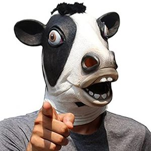 Máscara de animal de cabeça de vaca para adultos-Cow head animal mask for adults
