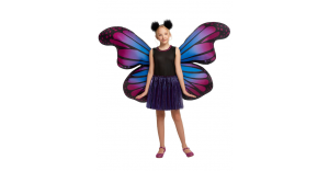 Fantasia infantil borboleta com asas infláveis – Kids Butterfly Costume With Light-Up Inflatable Wings