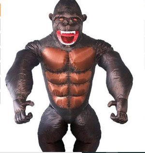 Fantasia de Gorila Inflável para Adultos –  Inflatable Gorilla Costume for Adults