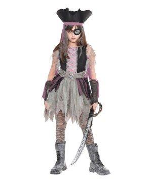 Fantasia de pirata assombrada – Girls Haunted Pirate Costume