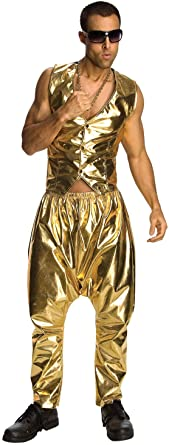 Calças à fantasia masculina de ouro do Rubie's MC Hammer –  Rubie's MC Hammer gold men's costume pants