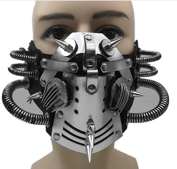 Máscara Steampunk Couro Cosplay Punk – Steampunk Leather Cosplay Punk Mask