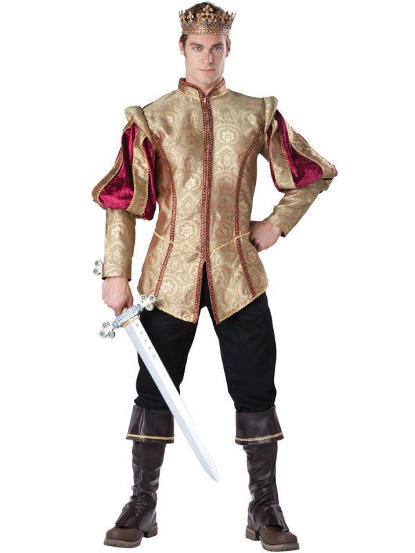 Fantasia Adulto Renascentista Príncipe Masculino – Adult Renaissance Prince Men Royal Costume