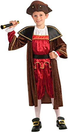 Fantasia Infantil Cristóvão Colombo –  Christopher Columbus Children's Costume