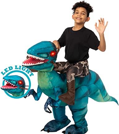 Fantasia Inflável  Creations Raptor com olhos de luz LED – Inflatable Fantasy Creations Raptor with LED light eyes