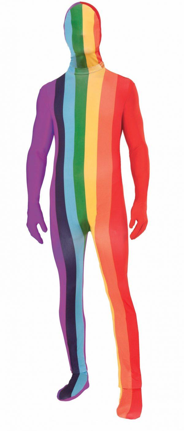 Fantasia Macacão masculino arco-íris adulto – Adult Rainbow Men Bodysuit