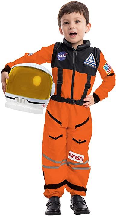 Fantasia Piloto de astronauta da NASA laranja –  Orange NASA Astronaut Pilot Costume