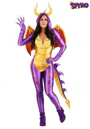Fantasia  Spyro the Dragon para mulheres – Spyro the Dragon Costume Jumpsuit for Women