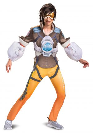Fantasia Tracer Feminino de Overwatch – Overwatch Women's Tracer Deluxe Costume