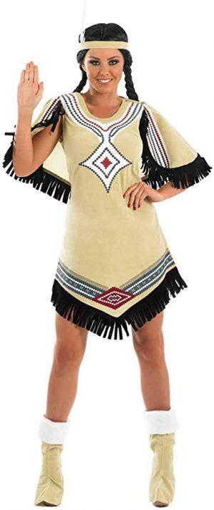 Fantasia  de índio nativo americano adulto – Adult Native American Indian Costume