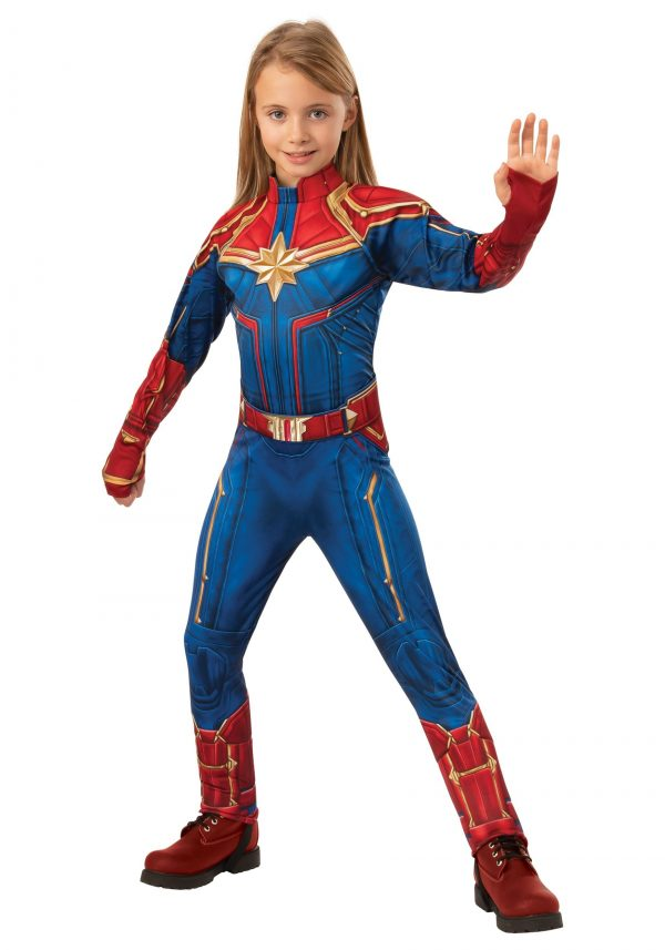 Fantasia de Criança Deluxe Captain Marvel – Deluxe Captain Marvel Child Costume