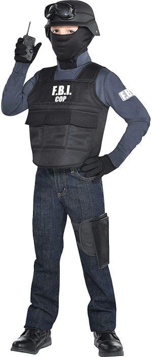 Fantasia de FBI para crianças, inclui acessórios – FBI costume for kids, includes accessories