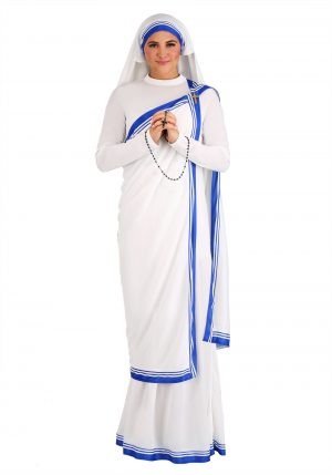 Fantasia de Madre Teresa para mulheres – Mother Teresa Costume for Women