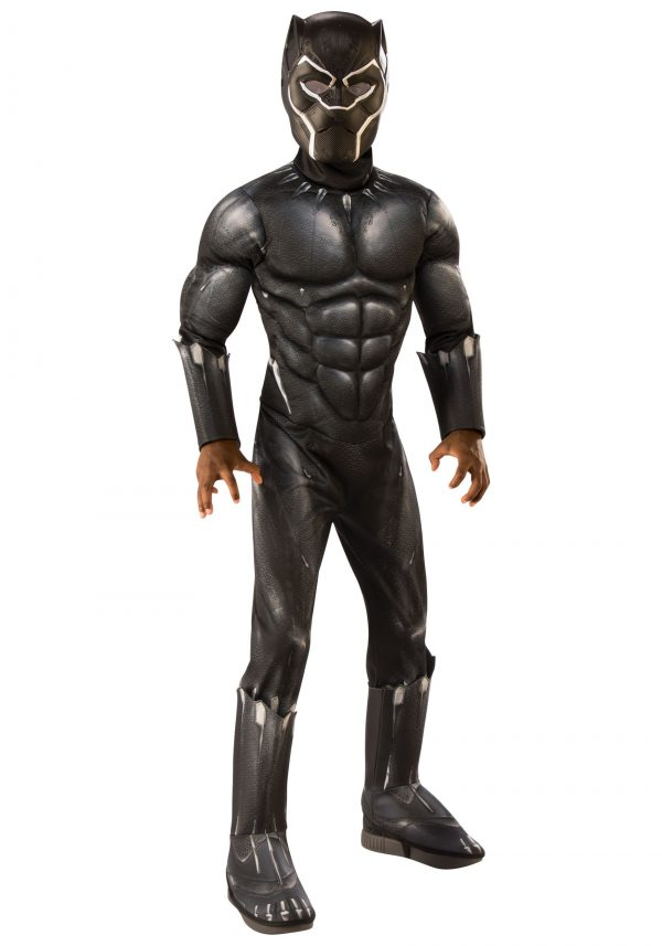 Fantasia de Pantera Negra Deluxe para Crianças – Deluxe Black Panther Costume for Children