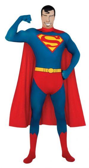 Fantasia de Superman adulto de segunda pele – Adult Superman 2nd Skin Men Costume