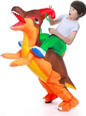 Fantasia de dinossauro inflável para crianças – Inflatable Dinosaur Costume for Kids