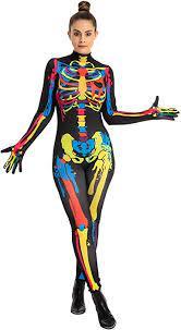 Fantasia de esqueleto colorido feminino da Spooktacular Creations – Spooktacular Creations Women's Colorful Skeleton Costume