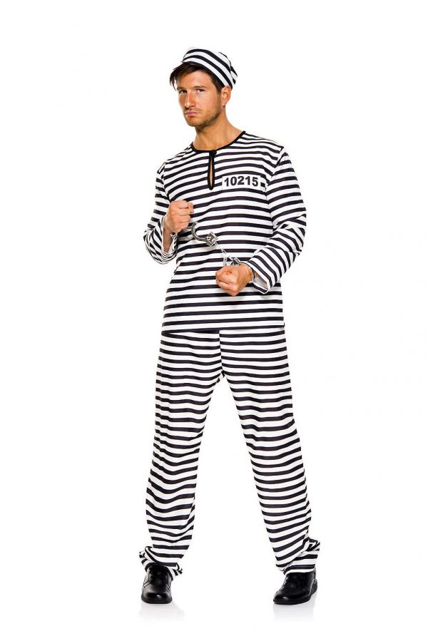 Fantasia de homem adulto prisioneiro – Adult Prison Mate Men Costume