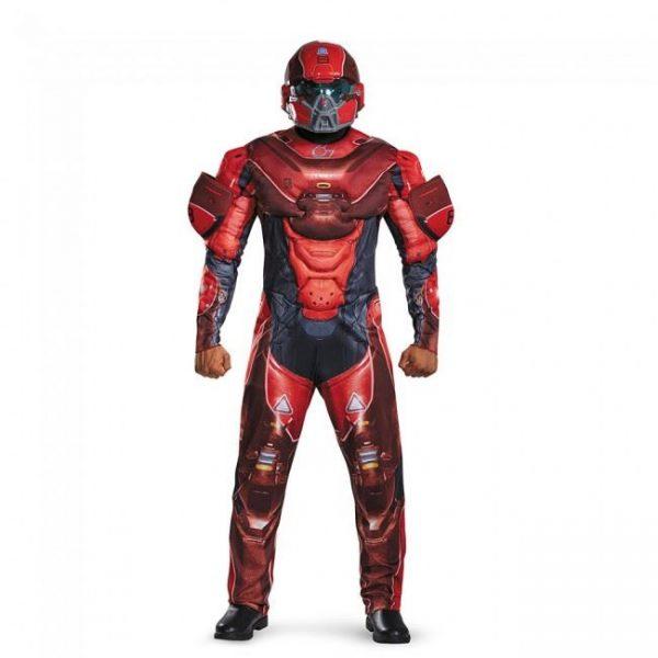 Fantasia de homem adulto vermelho espartano – Adult Red Spartan Muscle Men Costume