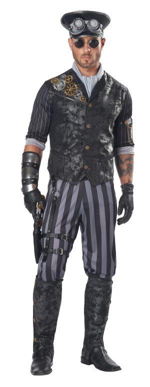 Fantasia de luxo adulto Steampunk Commander – Adult Steampunk Commander Men Deluxe Costume