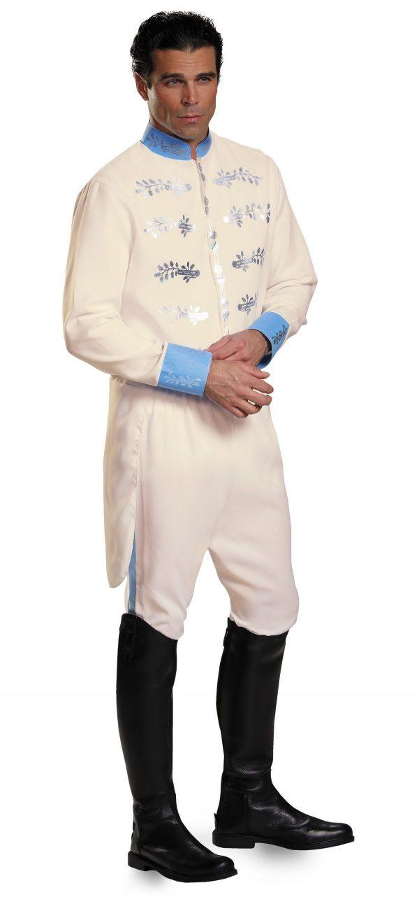 Fantasia de luxo adulto príncipe encantado masculino – Adult Prince Charming Men Deluxe Costume