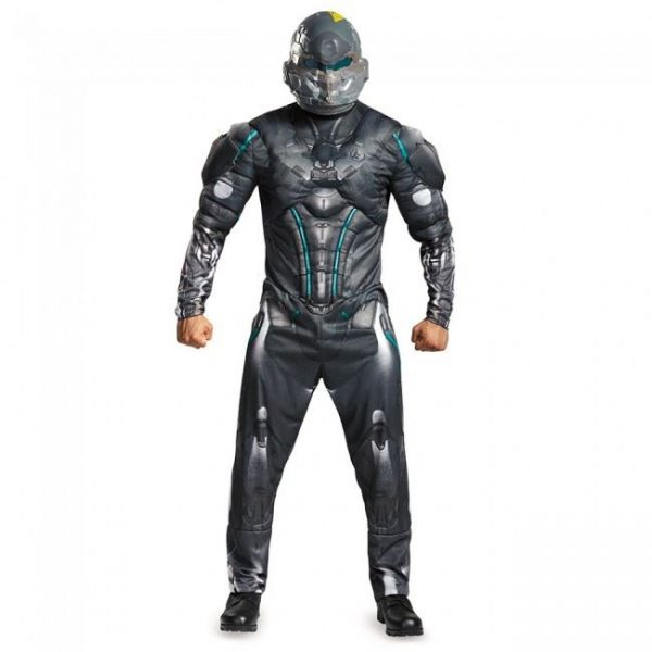 Fantasia de músculo adulto espartano Locke Halo – Adult Spartan Locke Halo Men Muscle Costume