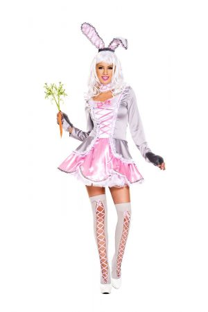 Fantasia de mulher adulta coelho sexy – Adult Follow Me Rabbit Woman Costume