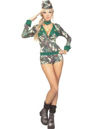 Fantasia de mulher adulta do exército Sexy – Adult Army Girl Woman Costume