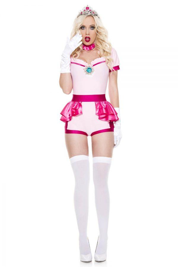 Fantasia de mulher adulta princesa rosa Sexy – Adult Pink Princess Woman Costume