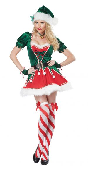 Fantasia de mulher ajudante de Papai Noel adulto- Adult Santas Helper Woman Costume