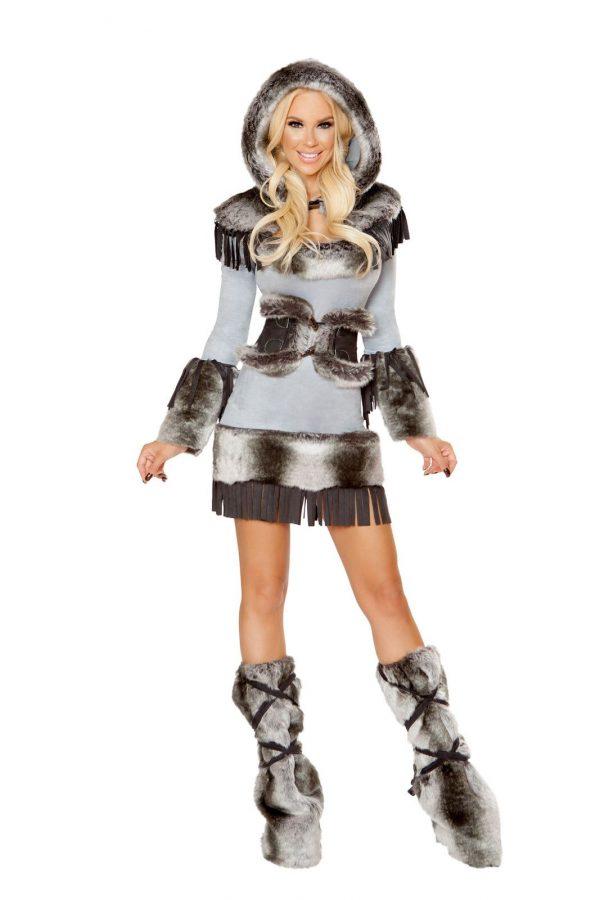 Fantasia de mulher esquimó fofa adulta – Adult Eskimo Cutie Woman Costume