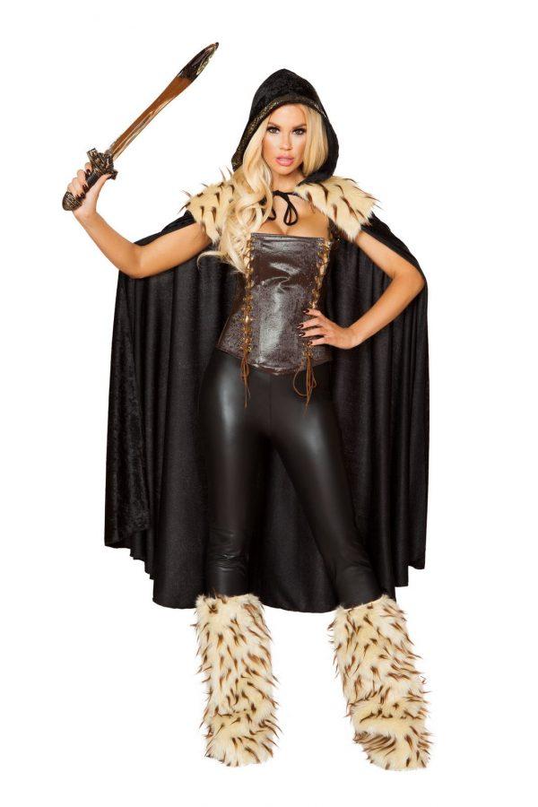 Fantasia de mulher guerreira de herói de guerra adulta – Adult War Hero Woman Warrior Costume