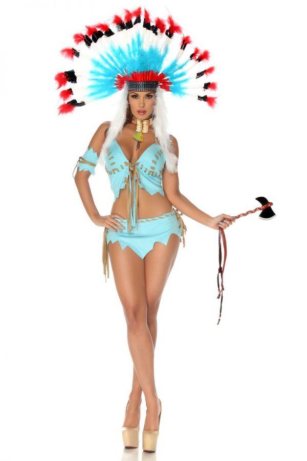 Fantasia de mulher nativa americana para adultos sexy – Adult Tomahawk Native American Women Costume