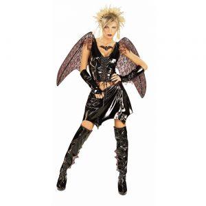 Fantasia de mulher vampira morcego adulta – Adult Bat Vampire Woman Costume