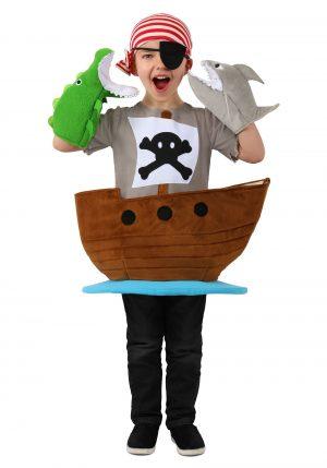 Fantasia de navio pirata para crianças coletor de doces -Candy Catcher Pirate Ship Costume for Kids