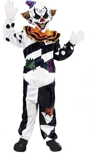 Fantasia de palhaço assustador para criança- scary clown for kids