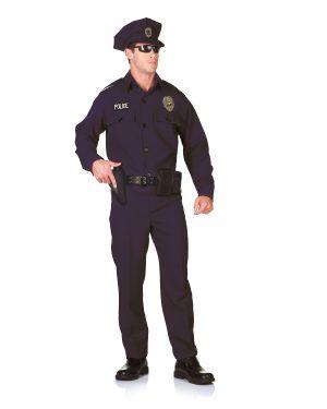 Fantasia de policial adulto masculino – Adult Police Officer Men Costume