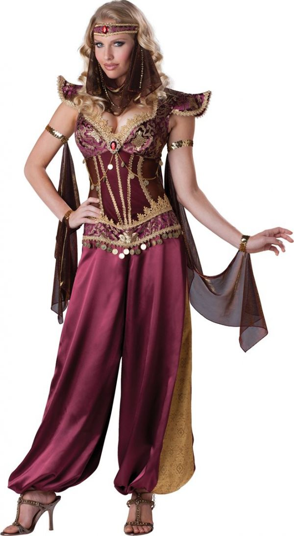 Fantasia de princesa mulher árabe adulta- Adult Arabian Princess Woman Costume
