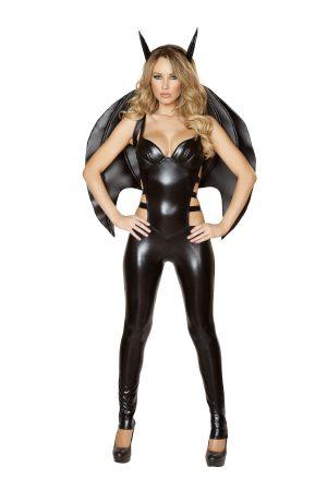 Fantasia de super-herói sexy para mulher morcego adulta – Adult Bat Woman Sexy Superhero Costume