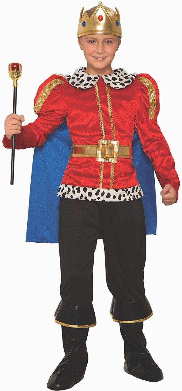 Fantasia do rei real para Crianças  -Royal King Costume for Children