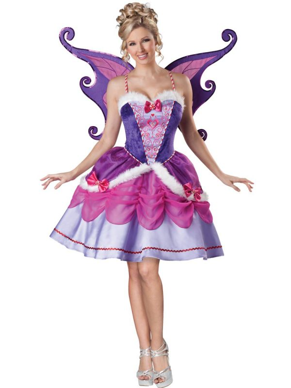 Fantasia feminina de fada adulta Sugarplum – Adult Sugarplum Fairy Womens Deluxe Costume