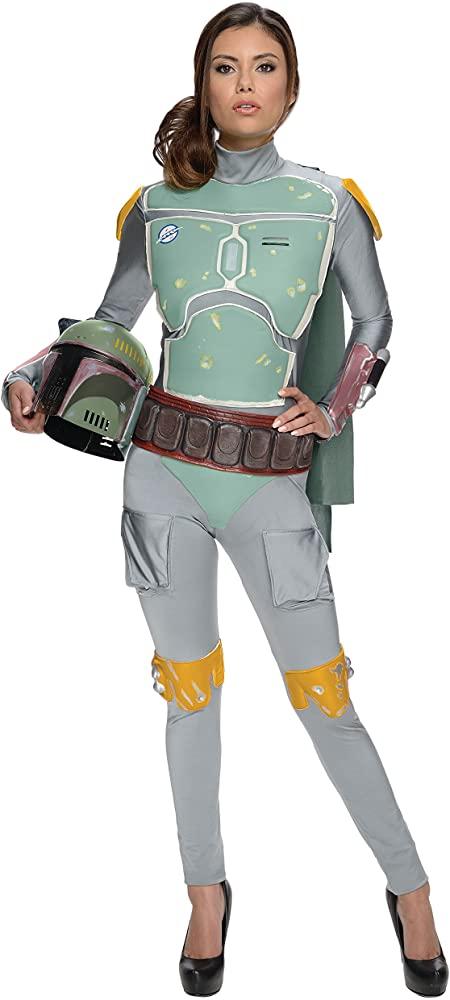 Fantasia feminina de luxo Boba Fett Star Wars – Boba Fett Star Wars Deluxe Female Costume
